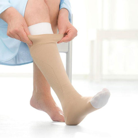 Jobst Ulcercare Open Toe Knee High Stocking and Liners - 40 mmHg
