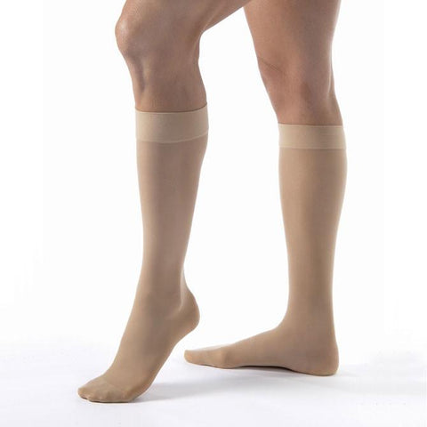 Jobst UltraSheer Closed Toe Knee Highs - 8-15 mmHg