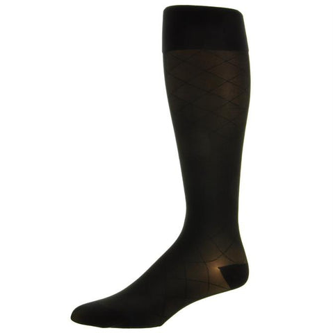 Jobst Ultrasheer Diamond Pattern Closed Toe Knee Highs - 20-30 mmHg