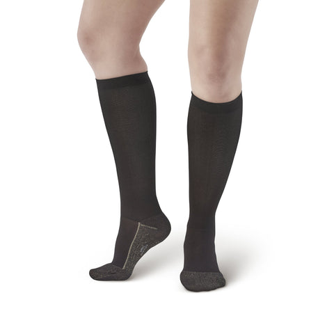 AW Style 136C Women's Knee High Copper Sole Socks - 20-30 mmHg