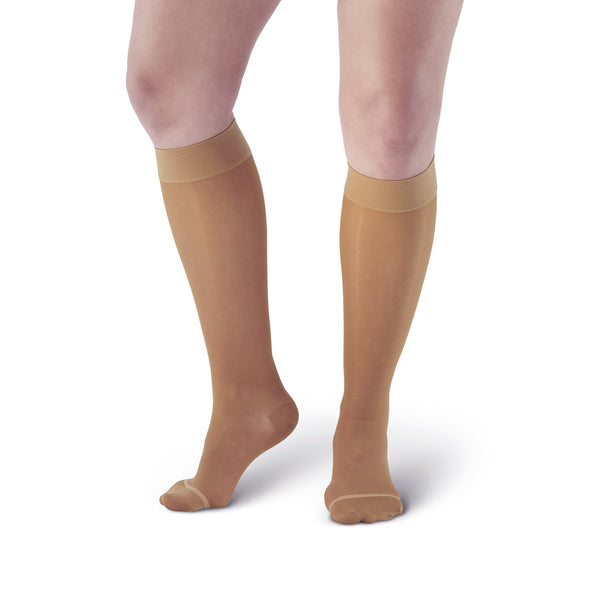 AW Style 18 Sheer Support Closed Toe Knee Highs - 20-30 mmHg