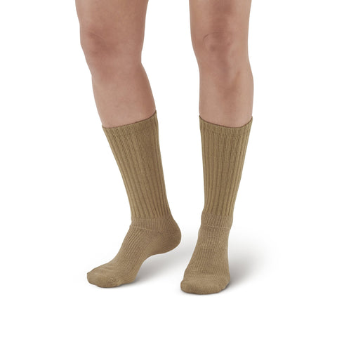 AW Style 190 E-Z Walker Plus Diabetic Crew Socks for Sensitive Feet - 8-15 mmHg