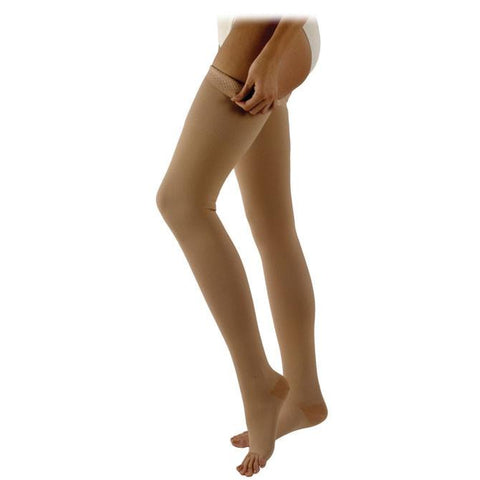 Sigvaris Specialty 503 Natural Rubber Open Toe Thigh High w/Grip Band - 30-40 mmHg