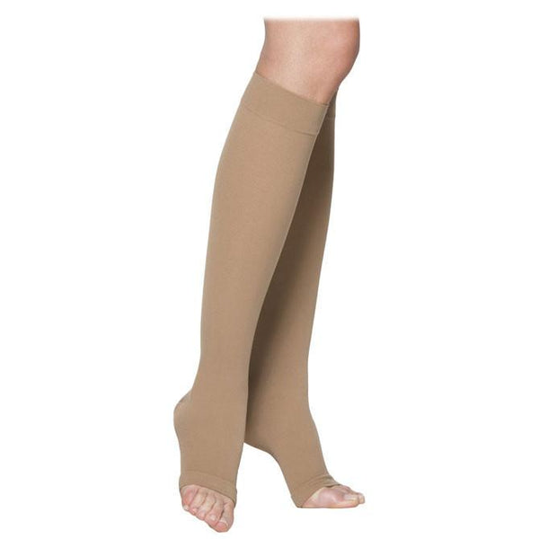 Sigvaris Essential 232 Men's & Women's Cotton Open Toe Knee Highs - 20-30 mmHg