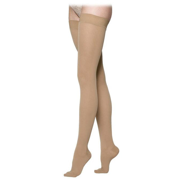 Sigvaris Essential 233 Cotton Open Toe Thigh Highs w/Grip Top - 30-40 mmHg