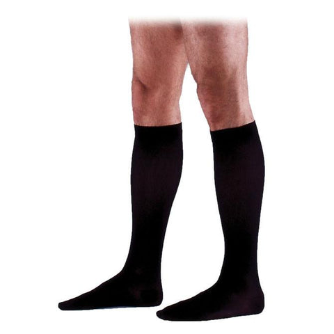 Sigvaris 233 Cotton Men's Closed Toe Knee Highs w/Grip Top - 30-40 mmHg