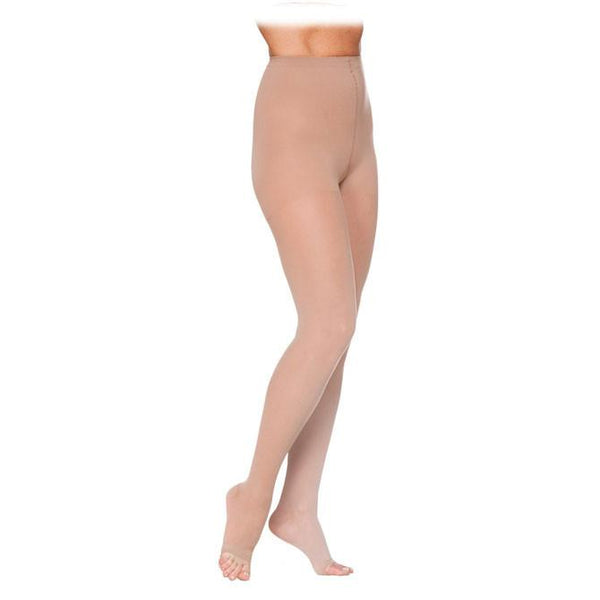 Sigvaris 782 EverSheer Open Toe Pantyhose - 20-30 mmHg - Natural