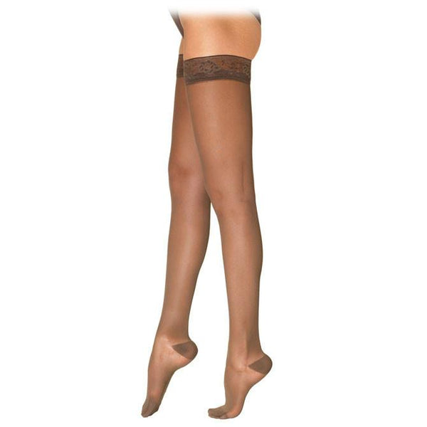 Sigvaris 781 EverSheer Closed Toe Thigh Highs w/ Grip Top - 15-20 mmHg - Natural