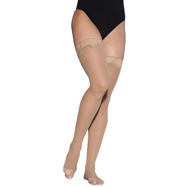Sigvaris Style 783 Sheer Open Toe Thigh Highs w/Grip Top - 30-40 mmHg