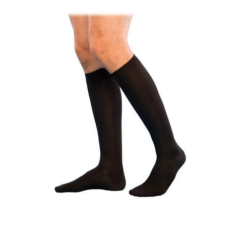 Sigvaris 186 Well Being  Men's Casual Cotton Knee High Socks - 15-20 mmHg