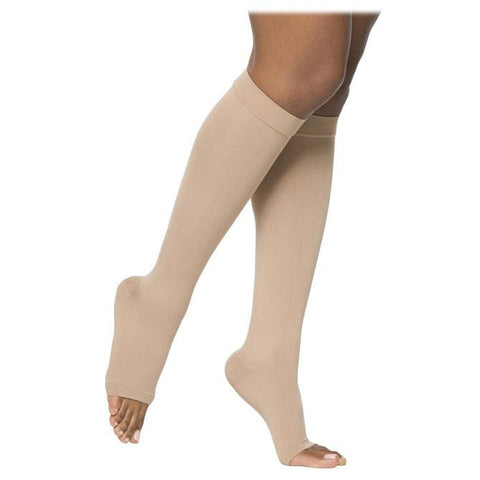 Sigvaris Essential 862 Opaque Open Toe Knee Highs - 20-30 mmHg