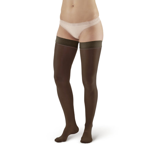 AW Style 385 Signature Sheers Closed Toe Thigh Highs w/Top Band - 30-40 mmHg