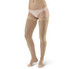 AW Style 392OT Luxury Opaque Open Toe Thigh Highs w/Dot Sil Band - 30-40 mmHg Beige