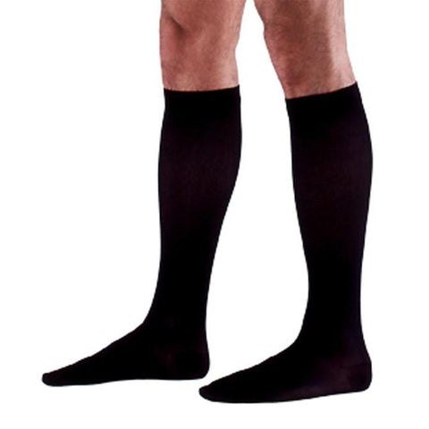Sigvaris 922 Access Men's Ribbed Closed Toe Knee High Socks -20-30 mmHg
