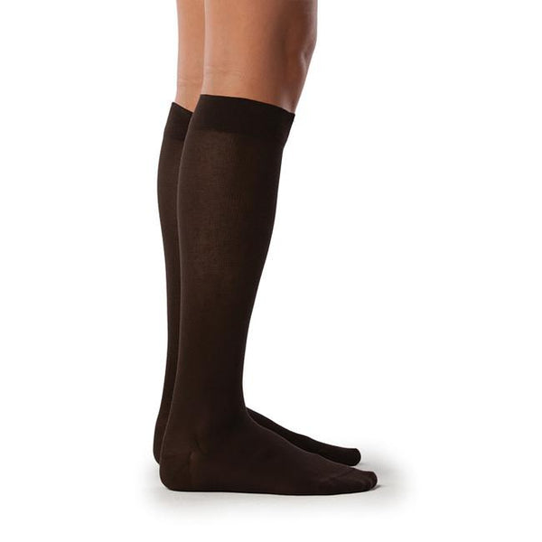Sigvaris 222 Zurich Collection Women's Sea Island Cotton Knee High Sock - 20-30 mmHg