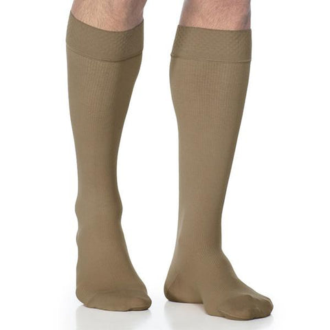 Sigvaris Style 823 Men's Microfiber Knee Highs w/Grip Top - 30-40mmHg