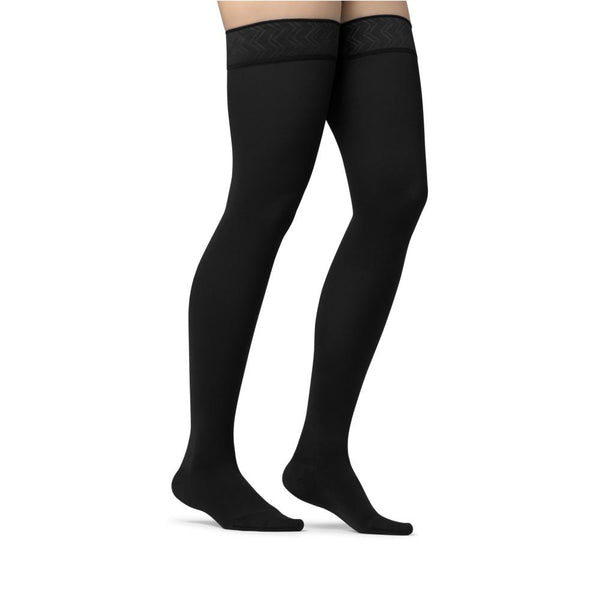 Jobst Opaque Closed Toe Maternity Thigh Highs w/Top Band - 20-30 mmHg