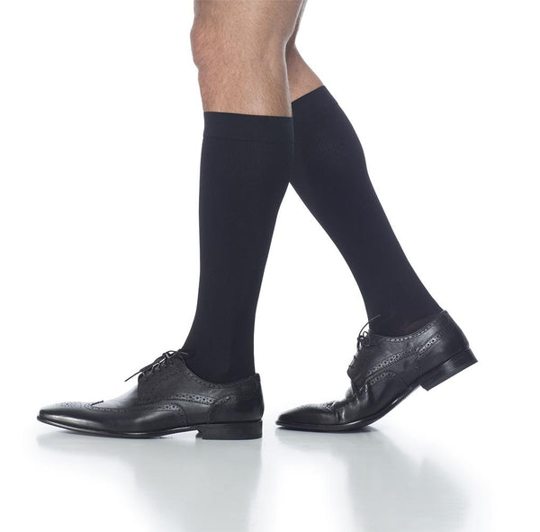 Sigvaris 921 Access Men's Ribbed Closed Toe Knee Highs 15-20 mmHg