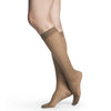 Sigvaris 781 EverSheer Closed Toe Knee Highs - 15-20 mmHg - Cafe