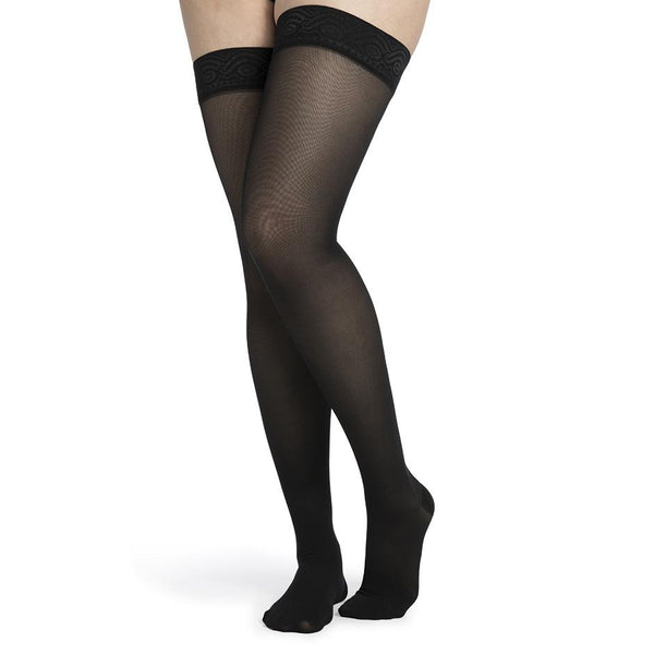 Sigvaris Style 752 Medium Sheer Women's Closed Toe Thigh Highs - 20-30 mmHg