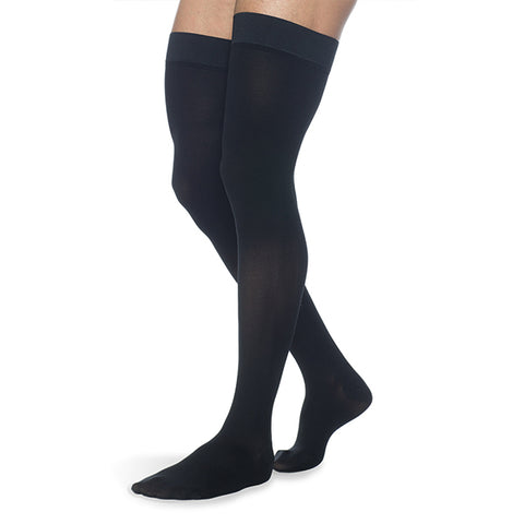 Sigvaris Secure 554 Men's Closed Toe Thigh Highs w/Silicone Band - 40-50 mmHg