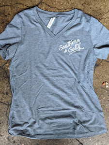 Southern & Salty V-Neck Tee