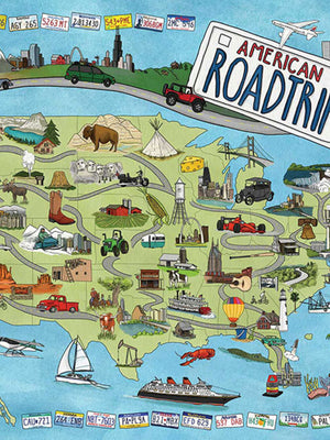 American Road Trip Puzzle