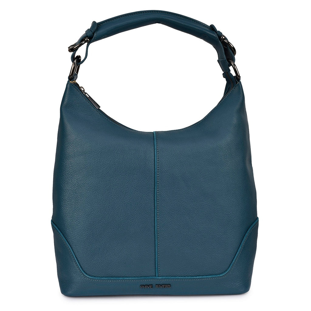 Phive Rivers Women s Leather Hobo Bag (Teal PR189) – Coralyn s Boutique 6ea46f2cc3c64