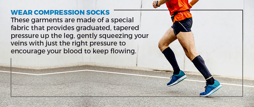 wear compression socks graphic