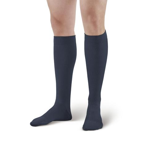 Lounge Doctor Firm Support Casual Cotton Knee High Socks Navy