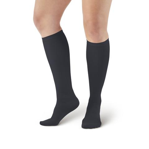 Lounge Doctor Mild Support Women's Knee High Dress Socks Black