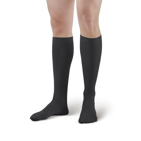 Lounge Doctor Mild Support Men's Knee High Dress Socks Black