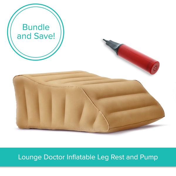 Lounge Doctor Inflatable Travel Leg Rest with Pump