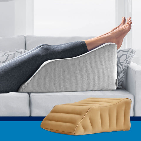 Lounge Doctor Leg Rest and Inflatable Travel Leg Rest Bundle