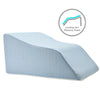 Lounge Doctor Leg Rest With Cooling Gel Memory Foam New & Improved Light Blue