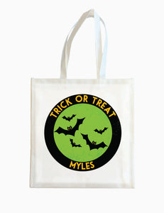 Bat Circle - Green - Halloween Tote