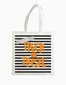 Trick or Treat Stripe - Halloween Tote