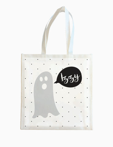 Ghost with Dots - Halloween Tote