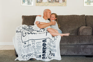 Personalized GrandFather's Day Blanket