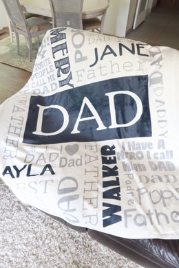 Personalized Father's Day Blanket