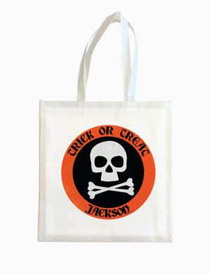 Orange Bones  - Halloween Tote