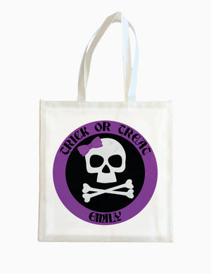 Purple Bones - Halloween Tote