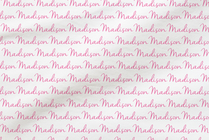 Personalized Pink Reverse Fabric