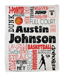 Large Basketball Boy Blanket