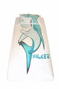 Matching Walker Shark Pillowcase & Blanket