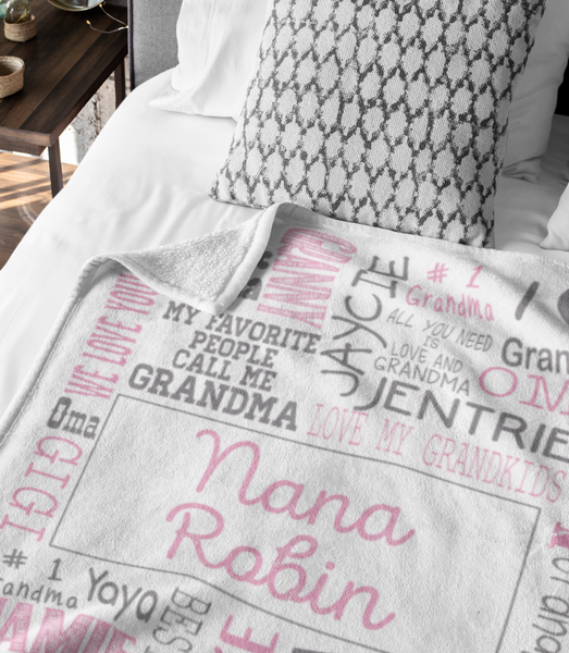 Personalized GrandMother's Day Blanket