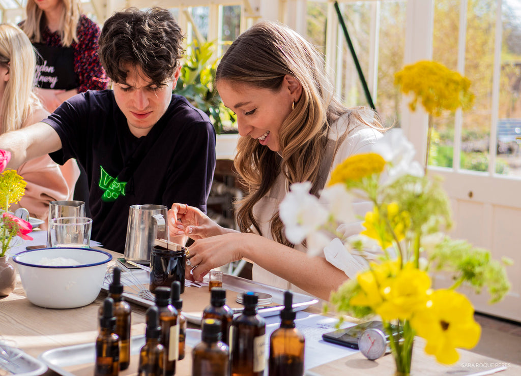 H&M Conscious Exclusive Press Day Greenhouse Candle Workshop