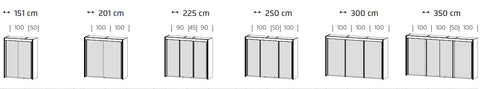 Rauch Amalfi Sizes - Dimensions
