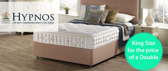 King Size Hypnos beds for the price of a Double - Coast Road Furniture - Flintshire