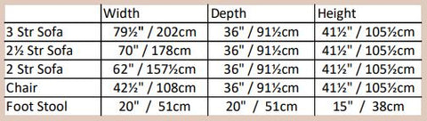 Chicago Suite Dimensions